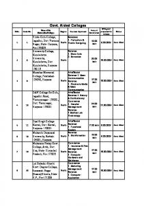 Govt. Aided Colleges - UGC - University Grants Commission