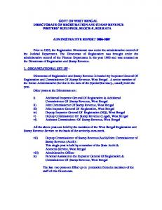govt of west bengal directorate of registration and stamp revenue