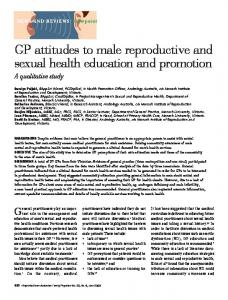 GP attitudes to male reproductive and sexual health ... - CiteSeerX