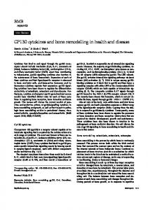 GP130 cytokines and bone remodelling in health and