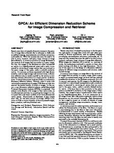 GPCA: An Efficient Dimension Reduction Scheme for ... - CiteSeerX