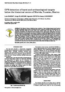 GPR detection of karst and archaeological targets