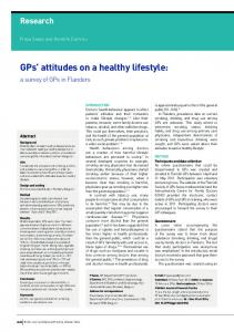 GPs' attitudes on a healthy lifestyle - PubMed Central Canada