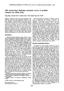 GPS meteorology: Reducing systematic errors ... - Wiley Online Library