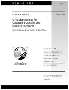 GPS Methodology for Cadastral Surveying and ... - AgEcon Search