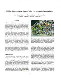 GPS-Tag Refinement using Random Walks with an Adaptive Damping ...