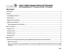 Grade 1 English Language Proficiency (ELP) Standards with ...