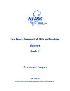 Grade 4 , Assessment Samples
