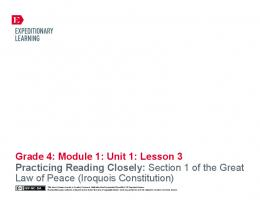 Grade 4: Module 1: Unit 1: Lesson 3 Practicing ... - EngageNY