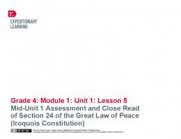 Grade 4: Module 1: Unit 1: Lesson 5 Mid-Unit 1 ... - EngageNY