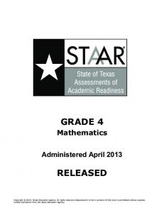 GRADE 4 RELEASED - Texas Education Agency