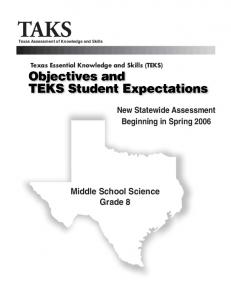 Grade 8 Science TEKS - Texas Education Agency