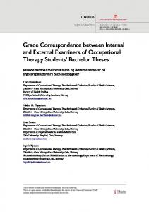 Grade Correspondence between Internal and