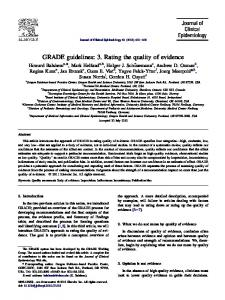 GRADE guidelines - Journal of Clinical Epidemiology