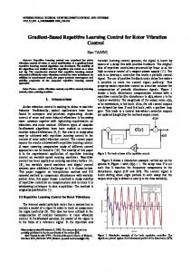 Gradient-Based Repetitive Learning Control for Rotor Vibration Control