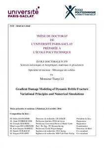 Gradient-Damage Modeling of Dynamic Brittle Fracture