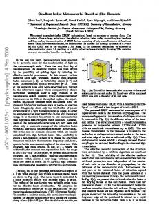 Gradient Index Metamaterial Based on Slot Elements