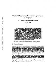 Gradient-like observers for invariant dynamics on a Lie group