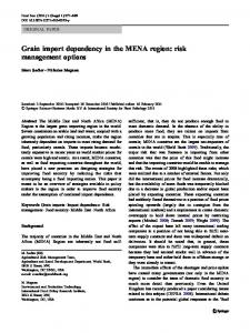 Grain import dependency in the MENA region: risk management options