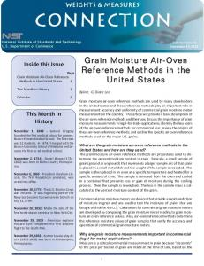 Grain Moisture Air-Oven Reference Methods in the United States