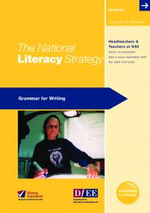 Grammar for writing - schoolslinks.co.uk