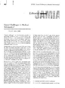 Grand Challenges in Medical Informatics? - Europe PMC