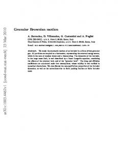 Granular Brownian motion