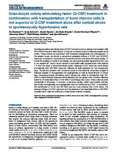Granulocyte colony-stimulating factor - Frontiers