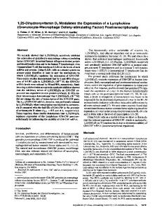 (Granulocyte-Macrophage Colony-stimulating Factor ...