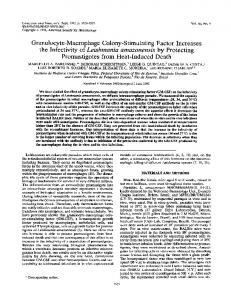 Granulocyte-Macrophage Colony-Stimulating Factor Increases the ...