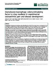Granulocyte-macrophage colony-stimulating factor is ...