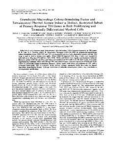 Granulocyte-Macrophage Colony-Stimulating Factor - Molecular and ...