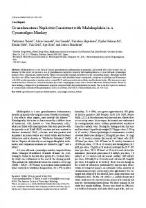 Granulomatous Nephritis Consistent with Malakoplakia in a ... - J-Stage