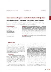 Granulomatous Response due to Anabolic Steroid Injections