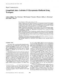 Grapefruit Juice Activates P-Glycoprotein-Mediated Drug