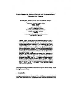 Graph Design for Secure Multiparty Computation over Non ... - IACR
