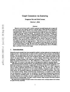 Graph Generation via Scattering