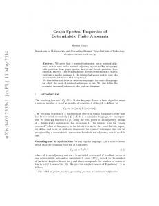 Graph Spectral Properties of Deterministic Finite Automata