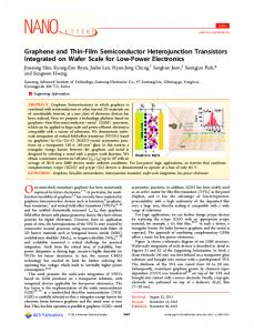 Graphene and Thin-Film Semiconductor Heterojunction Transistors ...