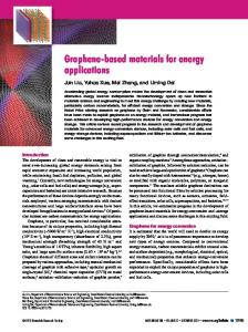 Graphene-based materials for energy applications - UOWM Open ...