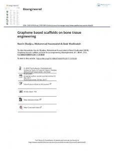 Graphene based scaffolds on bone tissue engineering