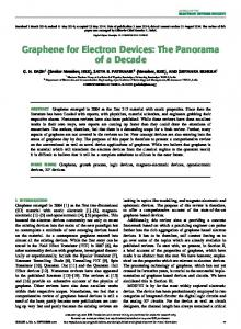 Graphene for Electron Devices: The Panorama of a ... - IEEE Xplore