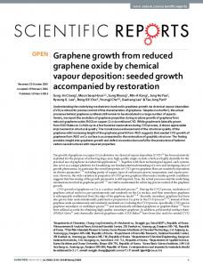 Graphene growth from reduced graphene oxide by chemical vapour