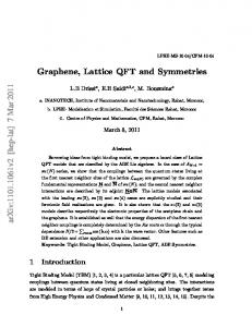 Graphene, Lattice QFT and Symmetries