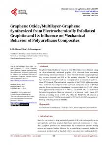 Graphene Oxide/Multilayer-Graphene Synthesized from ...
