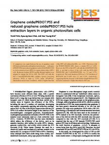 Graphene oxide/PEDOT:PSS and reduced ... - Wiley Online Library