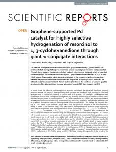 Graphene-supported Pd catalyst for highly