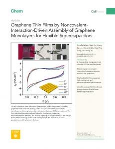 Graphene Thin Films by Noncovalent-Interaction-Driven Assembly of ...