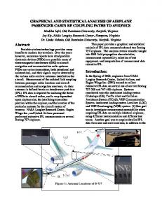 Graphical and Statistical Analysis of Airplane Passenger ... - CiteSeerX