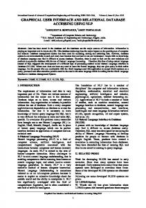 graphical user interface and relational database